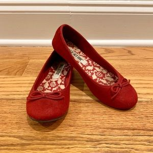 Red Ballet Flat Shoes